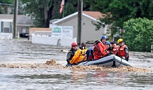 Rescue Crew in Action in Evans During 2013 Flood