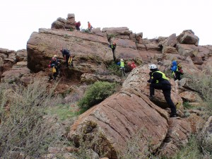 Larimer County Search and Rescue team in action