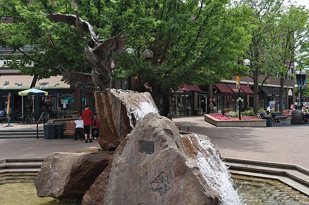 The Fountain in Old Town Square Fort Collins