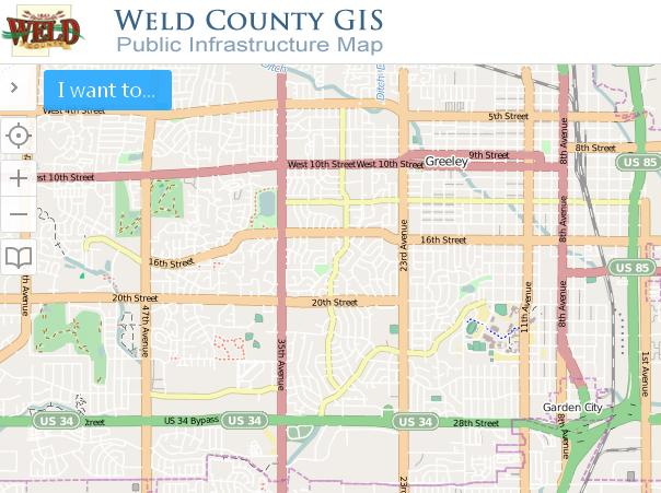 Weld County Public Infrastructure Map