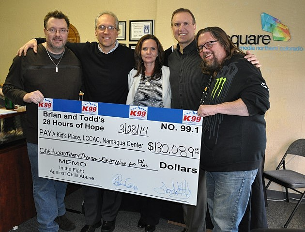 Todd Harding, GM Pat Kelley, Sales Manager Zandi Wilcox, Operations Manager, George King, and Brian Gary after 28 Hours of Hope