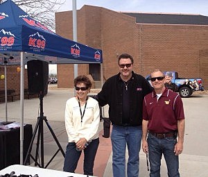 Nomi Ketterling, Todd Harding, and Dick Thomas at Windsor High School to celebrate success in saying no to drugs & alcohol