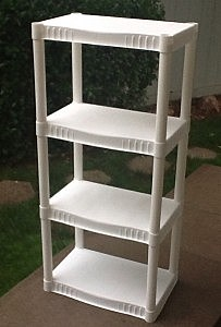 Set of shelves that Jenny saved from the dumpster
