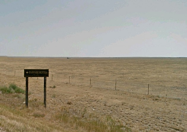 Pawnee Buttes Sign on Pawnee National Grassland