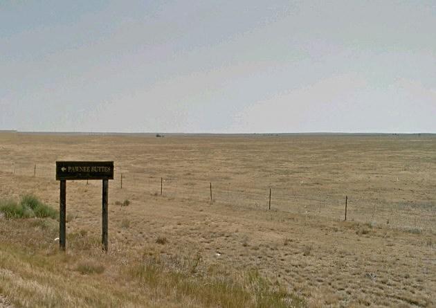 Pawnee Buttes Sign on Pawnee National Grassland