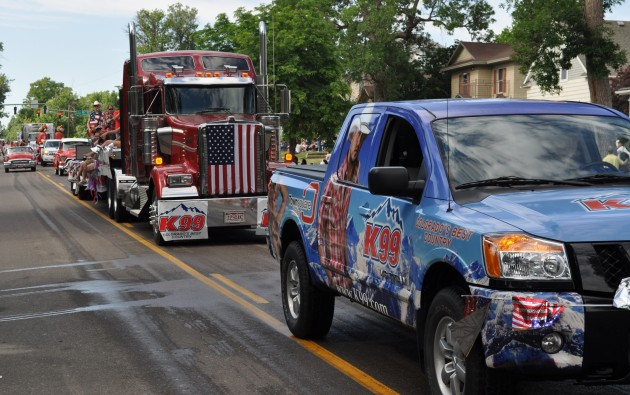 K99 Truck and Float in Greeley Stampede 4th of July Parade