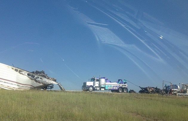 Accident on I-25 just south of the Wyoming Border