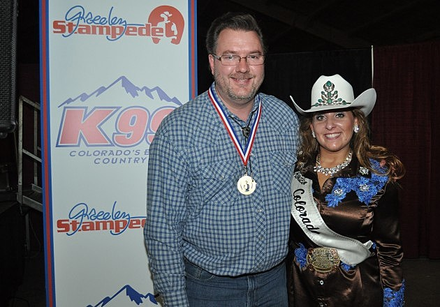 Todd Harding with Miss Rodeo Colorado 2014 Rhianna Russell