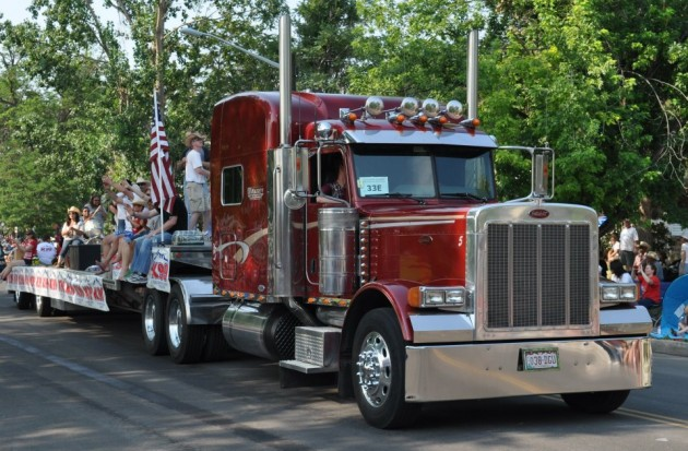Semi Truck in parade