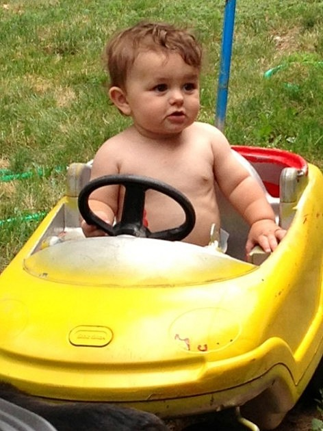 zayden in his car