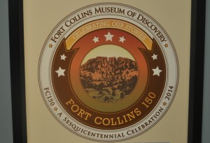 Fort Collins Museum of Discovery - Fort Collins 150 Exhibit Sign