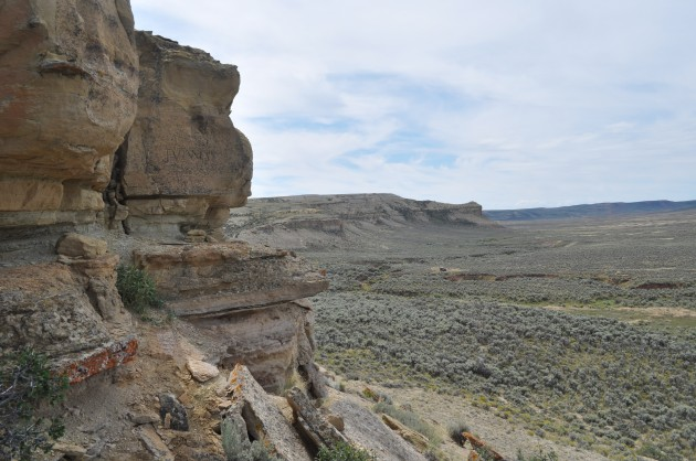 Bluff on the Oregon Trail near Kemmerer, Wyoming