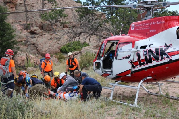 Rescue on Horsetooth Rock
