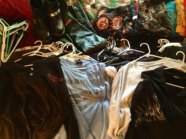 Harley Clothes pile