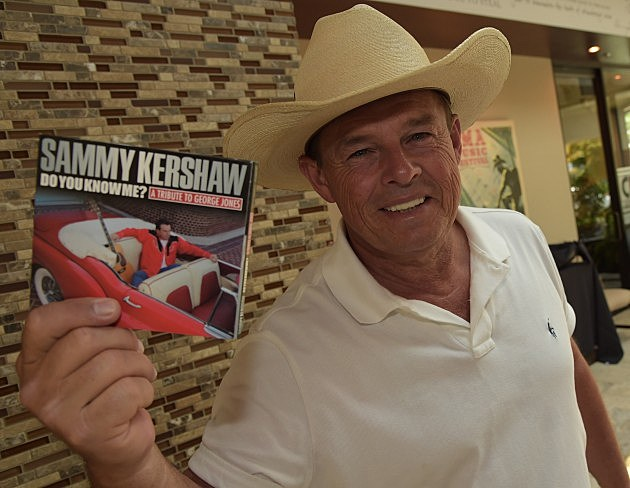 "Sammy Kershaw with a copy of ""Do You Know Me? A Tribute To George Jones"""