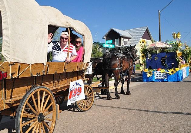Todd Harding & Susan Moore in 2013 Windsor Harvest Festival Parade