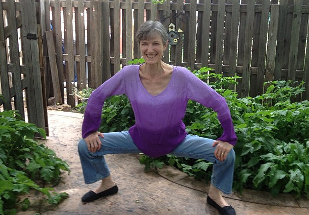 Fort Collins Author & Dancer Helga O'Donovan demonstrates SumoFit Exercise