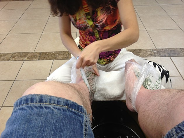 Paraffin Wax on the feet