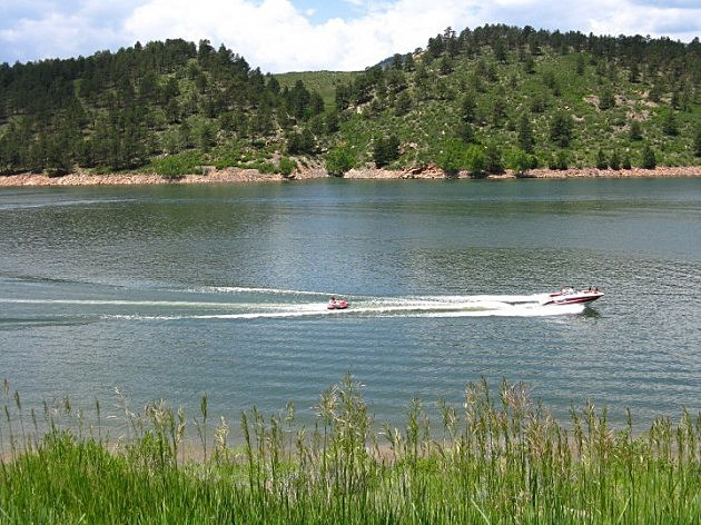 Boat on Horsetooth Reservoir