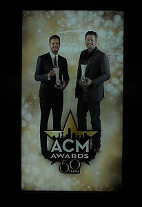 Giant poster featuring ACM Awards Hosts Luke Bryan & Blake Shelton
