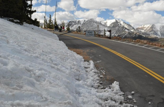 Trail Ridge Road in Rocky Mountain National Park Closed