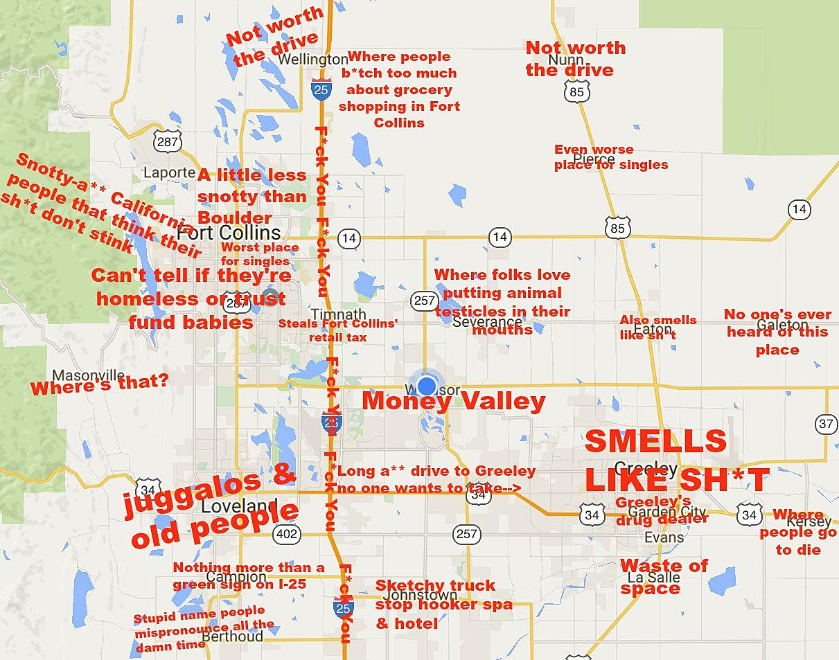 Judgmental Map of Northern Colorado