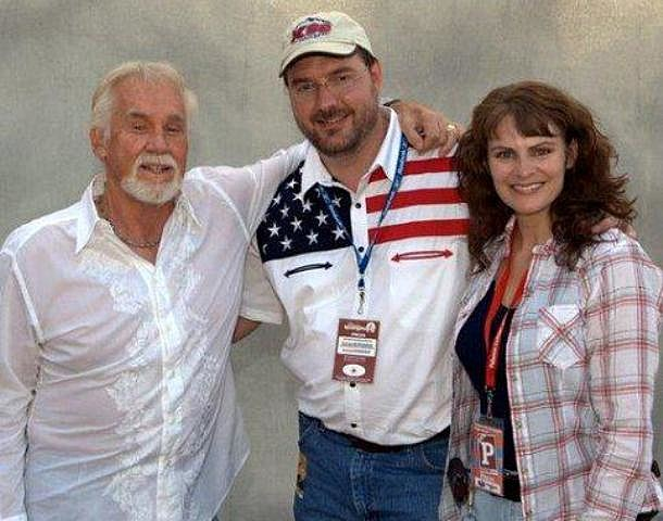 Kenny Rogers with Todd & Jenny Harding