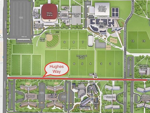 CSU Hughes Way Map