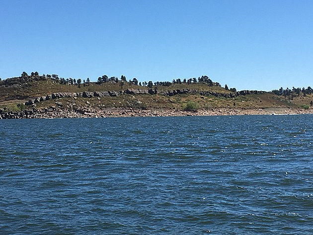 Horsetooth Reservoir west of Fort Collins