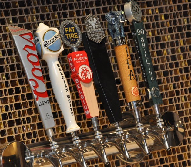 Local beers are served from the tap at the refurbished MetroLux 14