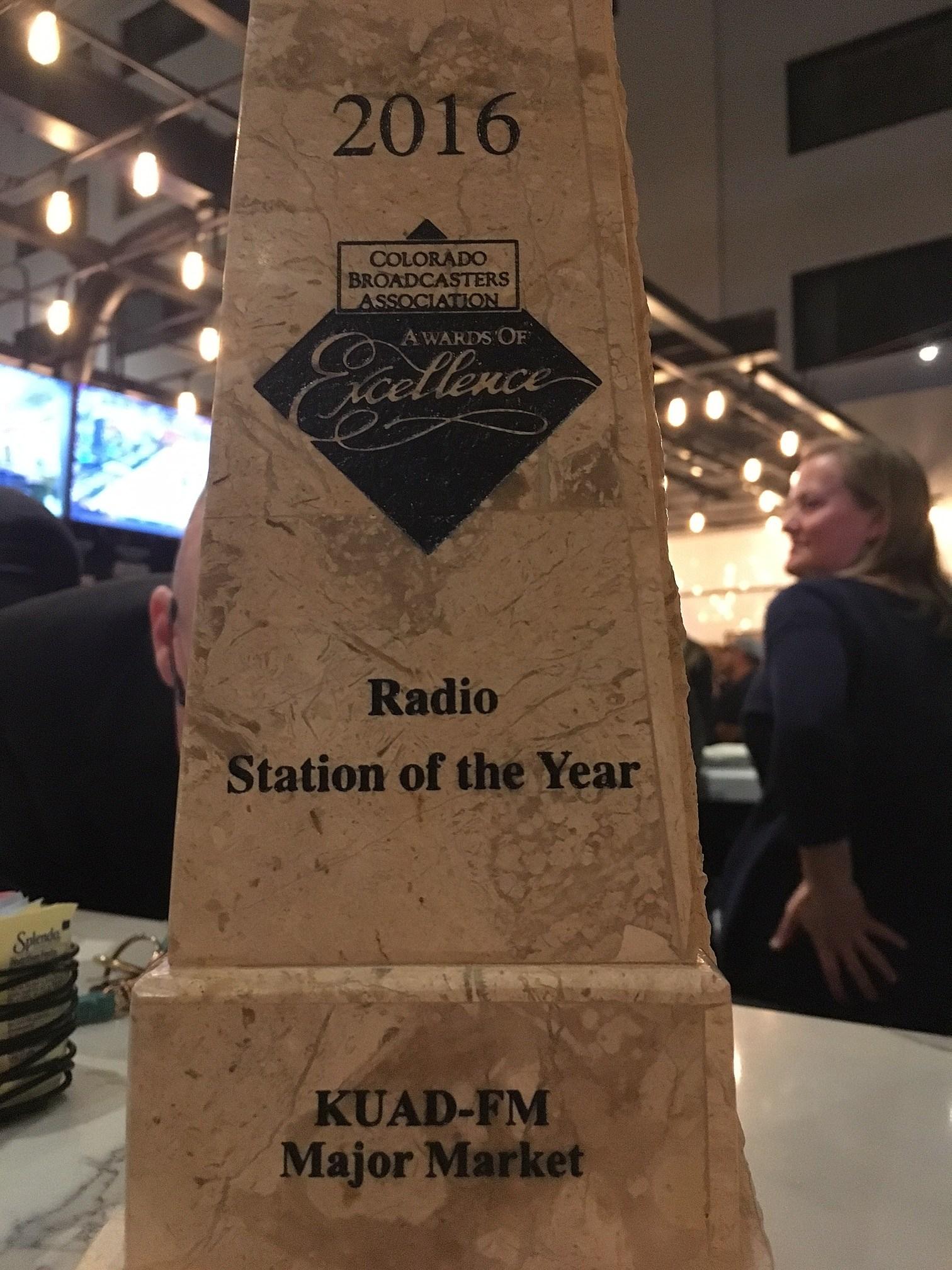 K99 Won Station of the Year at the 2017 CBA Awards