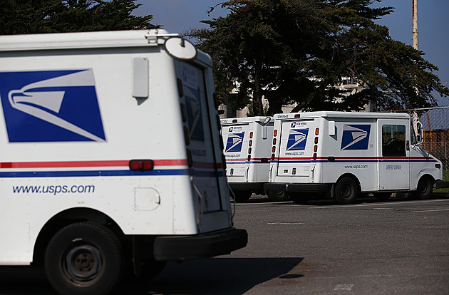 US Postal Service mail trucks