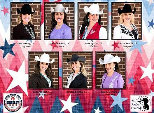 2018 Miss Rodeo Colorado Contestants