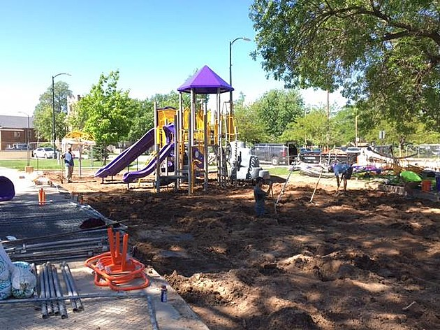 Lincoln Park Playground Construction