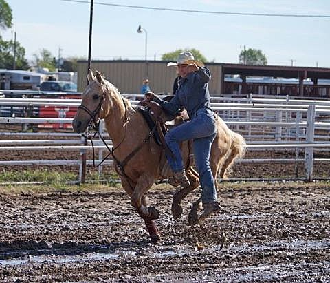 Shea Grogan competes in rodeo competition