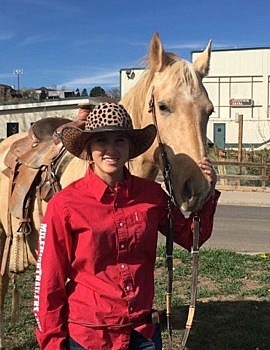 Shea Grogan and her horse Dusty