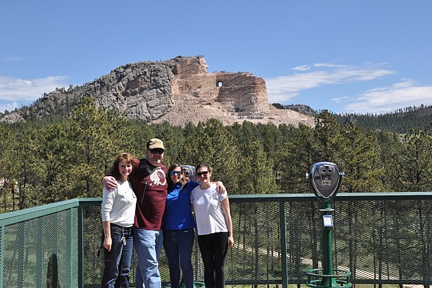 Crazy Horse Memorial with Francesca and Noemi