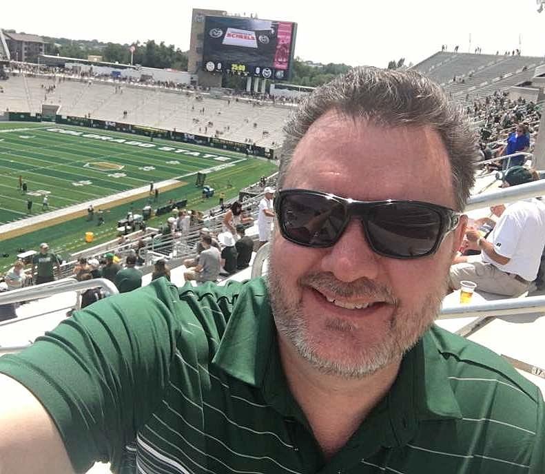 Todd at CSU on-campus stadium