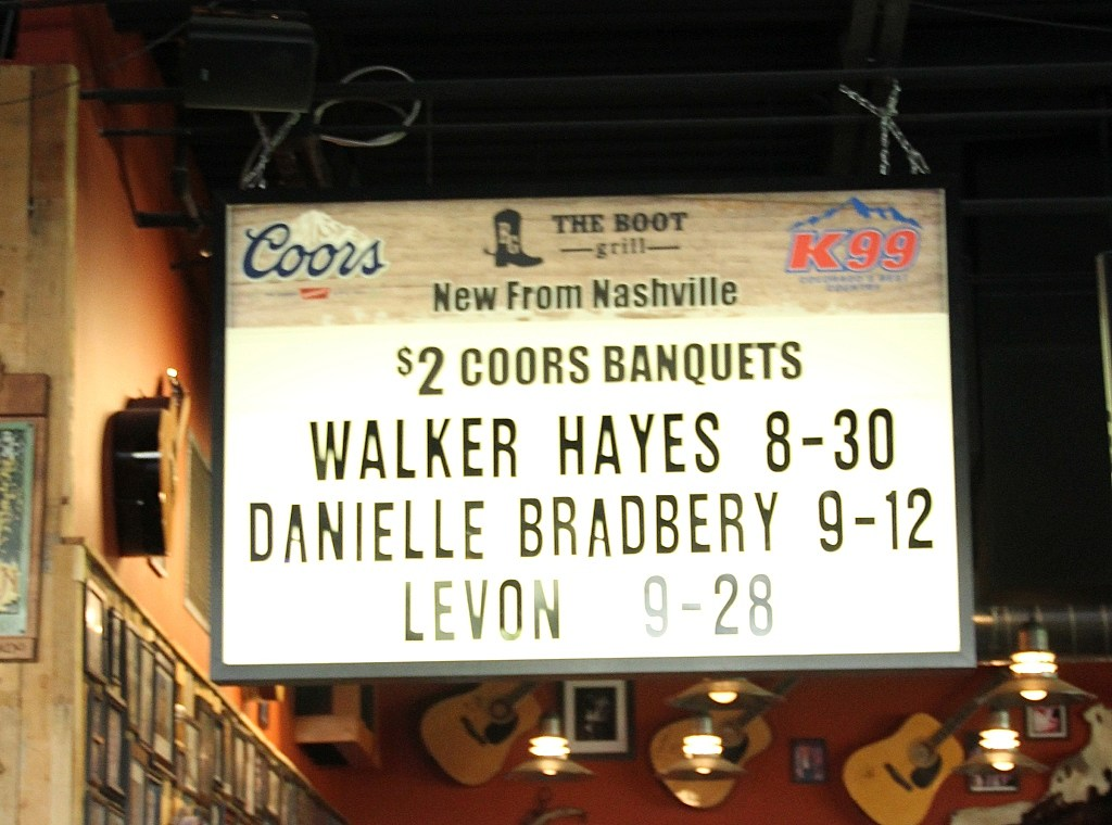 Walker Hayes New From Nashville at the Boot Gril