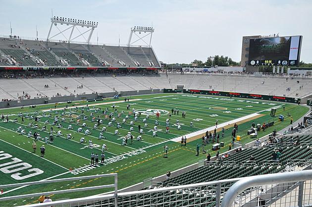CSU Rams Practicing in new stadium