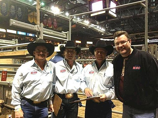 Richard Rule, Todd Harding, and other Judges at New Year's Eve Extreme Rodeo
