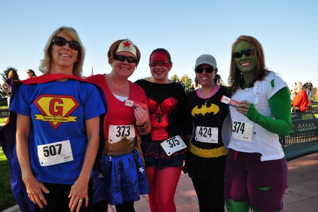 Superhero Run Participants
