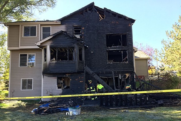 House Fire at  4512 Idledale Drive in Fort Collins