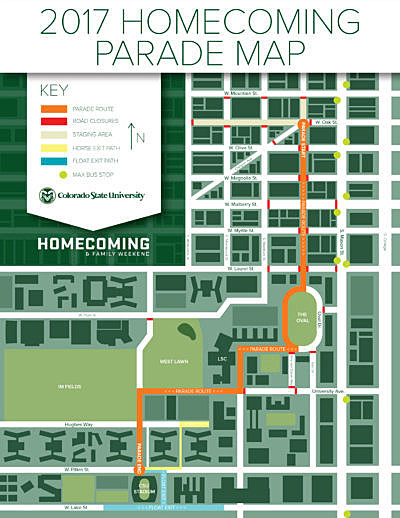 CSU Homecoming Parade Route